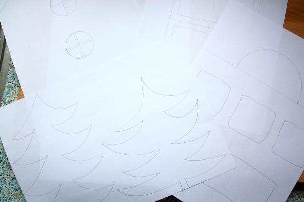 dekentje linus en kersthuisjes 016