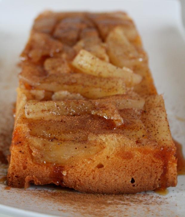 simpele peren stroop cake 019